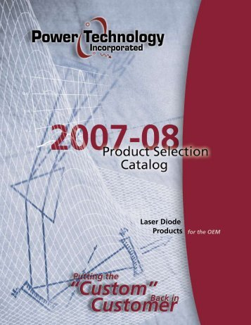 Laser Diode Products for the OEM - Power Technology, Inc.