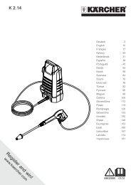 Karcher K 2.14 - manuals