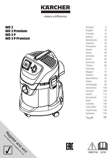Karcher WD 3 P - manuals