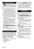 Karcher Nettoyeur haute pression K 2300 + T50 - manuals - Page 6