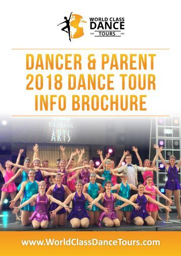 DANCER & PARENT 2018 INFO BROCHURE 10-2-17