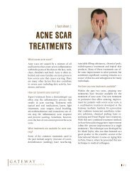 acne scar treatments - Gateway Aesthetic Institute and Laser Center