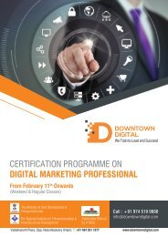 CERTIFICATION PROGRAMME ON DIGITAL MARKETING PROFESSIONAL