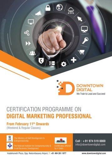 CERTIFICATION PROGRAMME ON DIGITAL MARKETING PROFESSIONAL