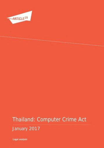 Thailand Computer Crime Act