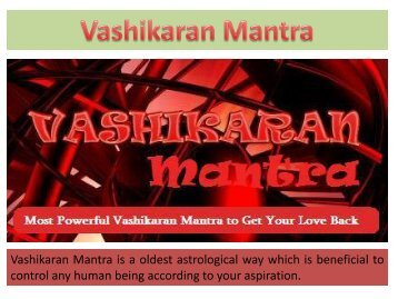 Powerful Vashikaran Mantra in Hindi