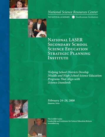 National LASER Secondary School Science Education Strategic ...