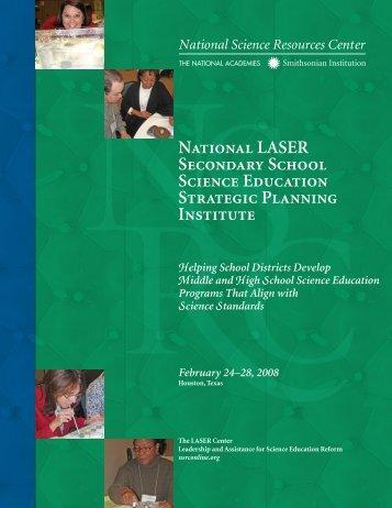 National LASER Secondary School Science Education Strategic ...