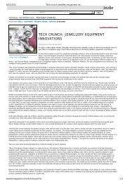 Tech crunch: jewellery equipment innovations ... - M2 Lasers