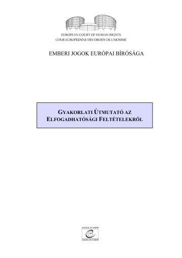 ELFOGADHATÓSÁGI FELTÉTELEKRŐL