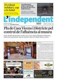 Pla de Casa Vicens i Districte pel control de l'afluència al museu