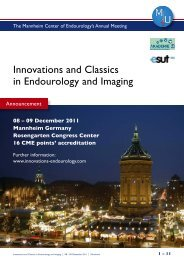 Innovations and Classics in Endourology and Imaging - FiMM