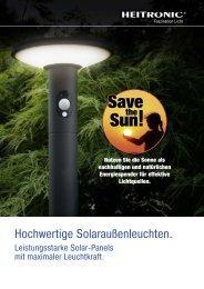 Hochwertige Solaraußenleuchten.
