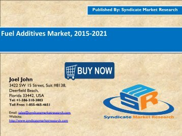 Fuel Additives Market, 2015-2021