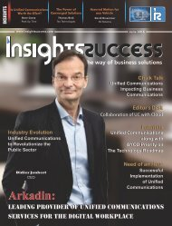 Insights Success The 10 Fastest Growing Unified Communications Solution provider Companies June2016