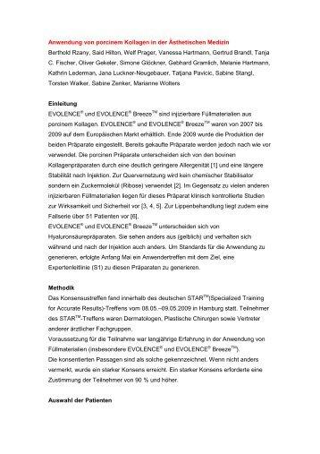 09.12.14 Anwendung von porcinem Kollagen in der ... - Derma.de
