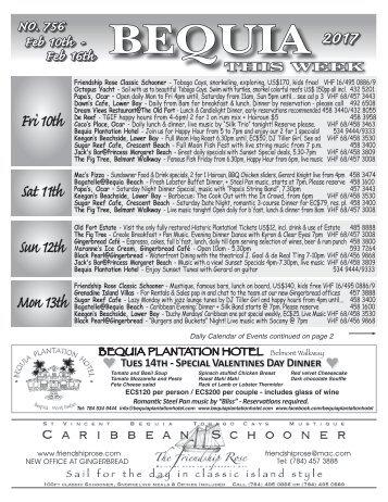Bequia this Week 10 February 2017