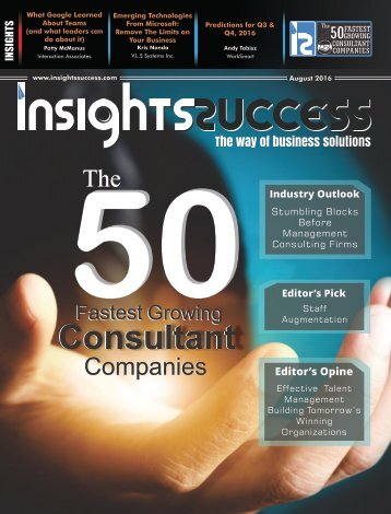 Insights Success The 50 Fastest Growing Consultant Companies