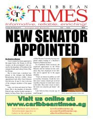Caribbean Times 94th Issue - Thursday 9th February 2017