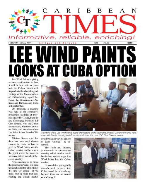 Caribbean Times 95th Issue - Friday 10th February 2017