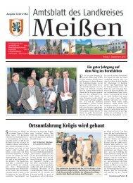 Ortsumfahrung Krögis wird gebaut - Landkreis Meißen