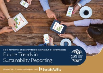 Future Trends in Sustainability Reporting