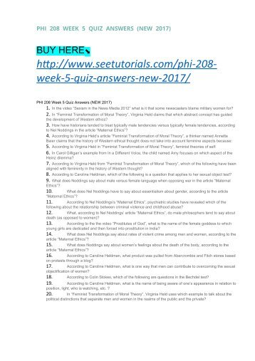 phi 208 week 2 readings quiz Brochure page 2 for commentary from bgz members, see the recent news  postings on the home page beyond ground zero network -- asian american.