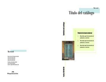 catalogo de Publisher