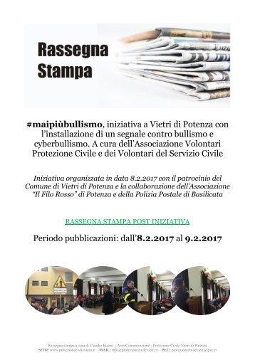 Rassegna stampa - Vietri di Potenza, #MAIPIUBULLISMO - 8.2.2017