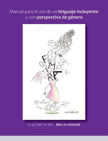 Manual para el uso de un lenguaje incluyente y con perspectiva de género