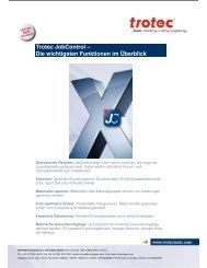 Trotec JobControl – Die wichtigsten Funktionen im ... - Trotec Laser Inc