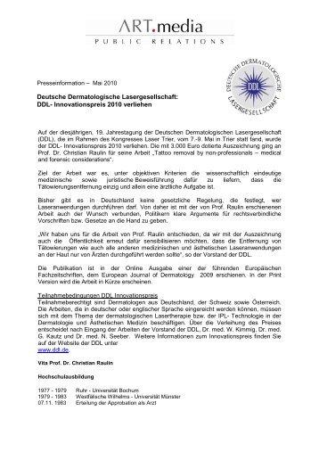 PDF Download (166 KB) - Deutsche Dermatologische ...