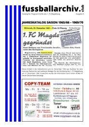 Jahreskatalog Saison 1965/66 - 1969/70
