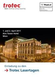 Trotec Lasertagen 1. und 2. April 2011 Airo Tower Hotel Wien - Rayjet