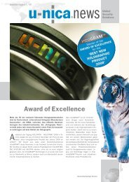 Award of Excellence - U-NICA Group