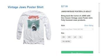 Vintage Jaws T shirts