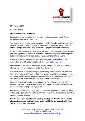 Chris Grayling Initial Letter