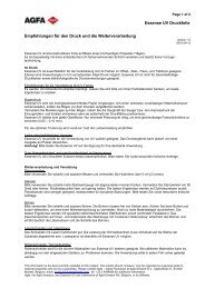 Synaps Product Information Sheet - Agfa