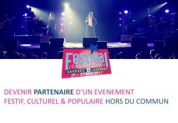 DEVENIR PARTENAIRE D'UN EVENEMENT FESTIF CULTUREL & POPULAIRE HORS DU COMMUN