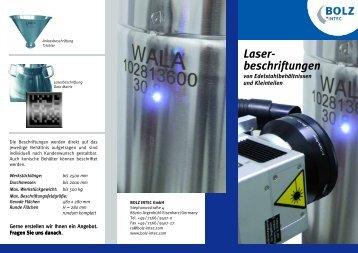 Laser- beschriftungen - Process