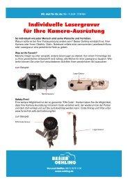 Individuelle Lasergravur für Ihre Kamera-Ausrüstung - Oehling