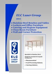 Stainless Steel Lockers - ELC Laser Group