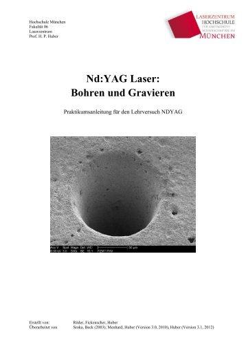 Nd:YAG Laser: Bohren und Gravieren - Fakultät 06 - Hochschule ...