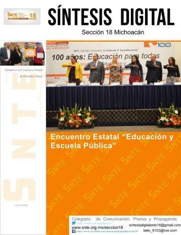 """Encuentro Estatal """"Educación y Escuela Pública"""""""