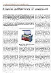 simulation und optimierung von Lasergravuren - Laser Magazin