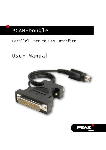 PCAN-Dongle - User Manual - PEAK-System