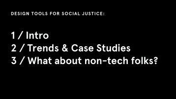 3 / What about non-tech folks?