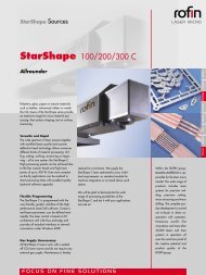 StarShape 100/200/300 C - Rofin