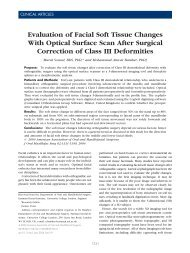 Evaluation of Facial Soft Tissue Changes With Optical Surface Scan ...