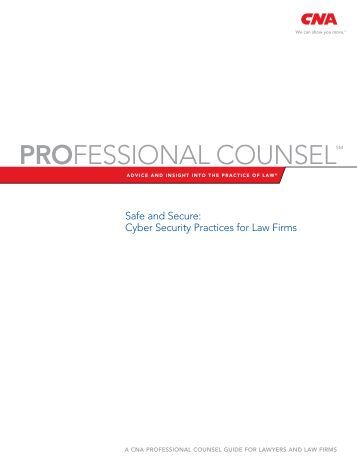 Safe Secure CyberSecurity Practices for Law Firms